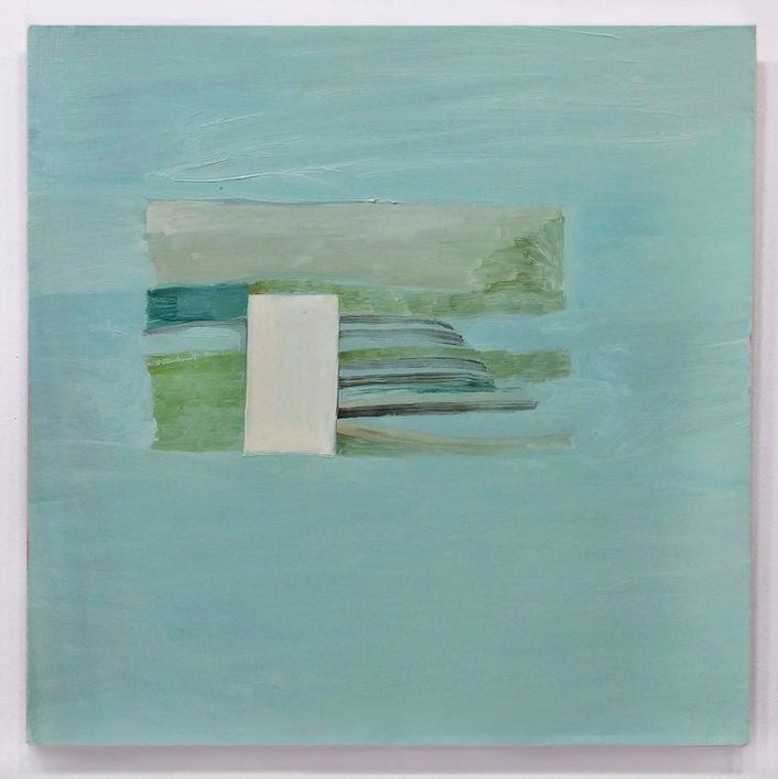 Sink, 2015, oil on marble ground on panel, 12 x 12in