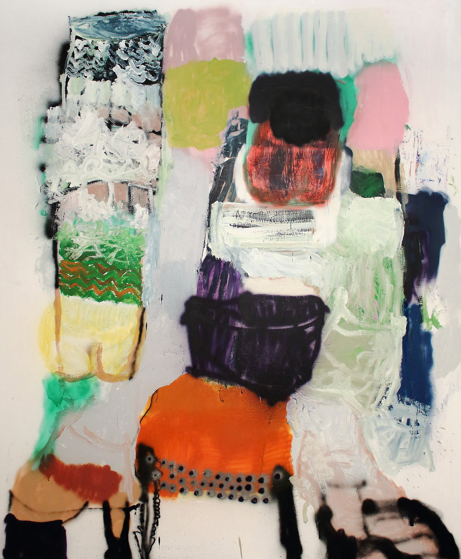also the nuns do it. mixed media on canvas, 163x200 cm. October 2016.JPG