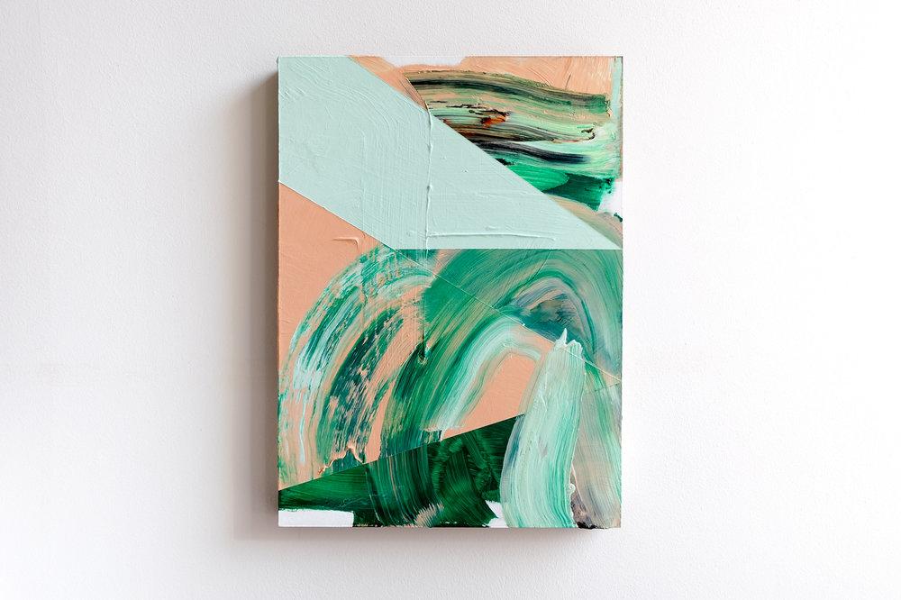 Lisa Denyer Floating Landscape 2016 acrylic and emulsion on hardboard 56x40cm.jpg