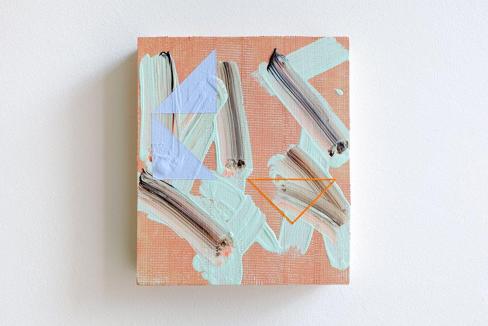 Lisa Denyer Plaza 2016 acrylic, emulsion and collage on found wood 28x24cm.jpg