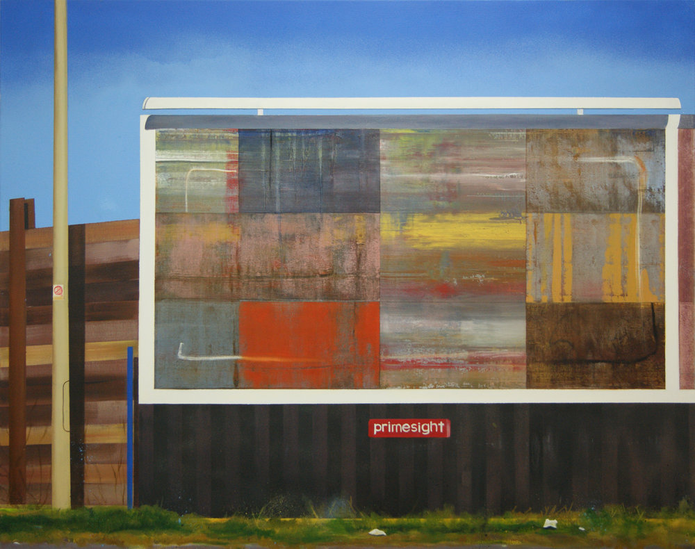 Billboard painting (West Shore Road) - 120 x 95 cm - Oil, acrylic and spraypaint on canvas.jpg