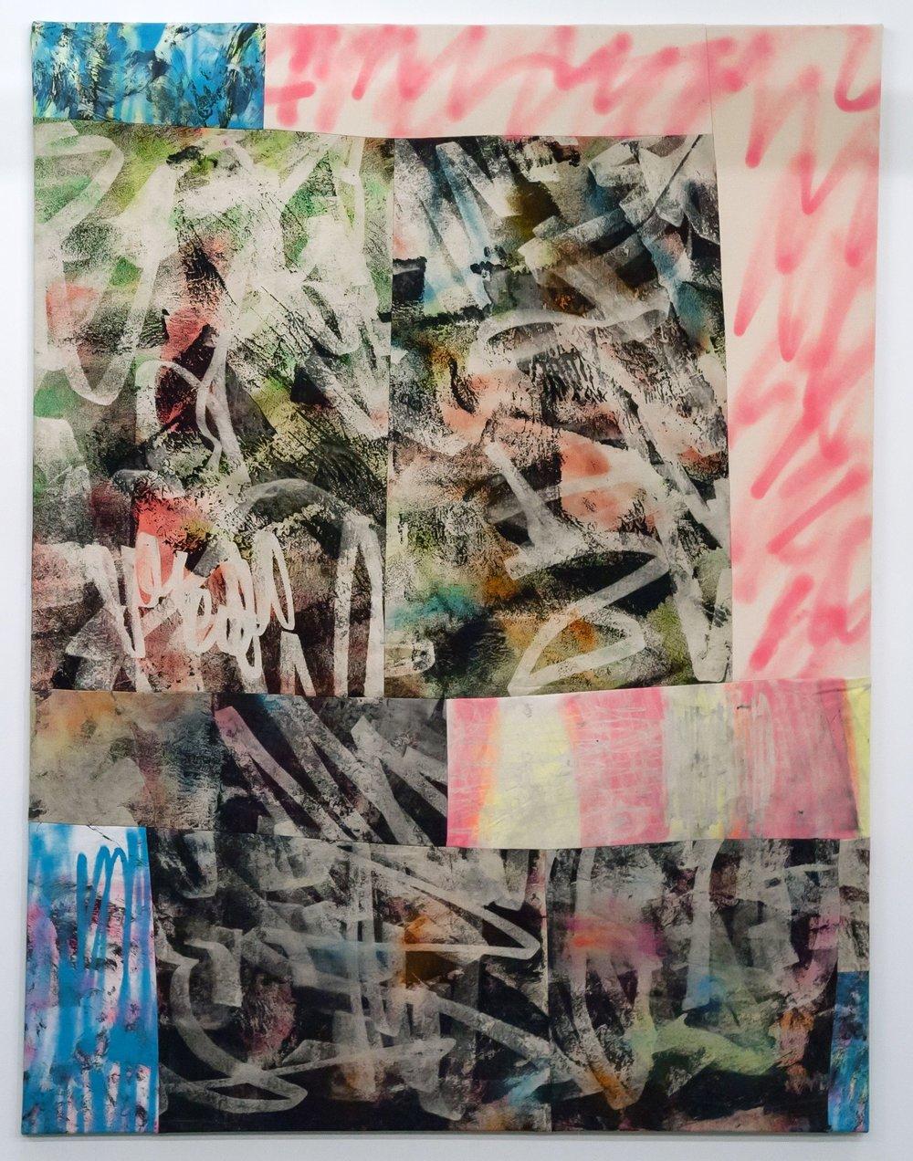 THE ENDLESS STORM, spray paint and acrylic on sewn canvas, 129 x 170 cm, 2017.jpg