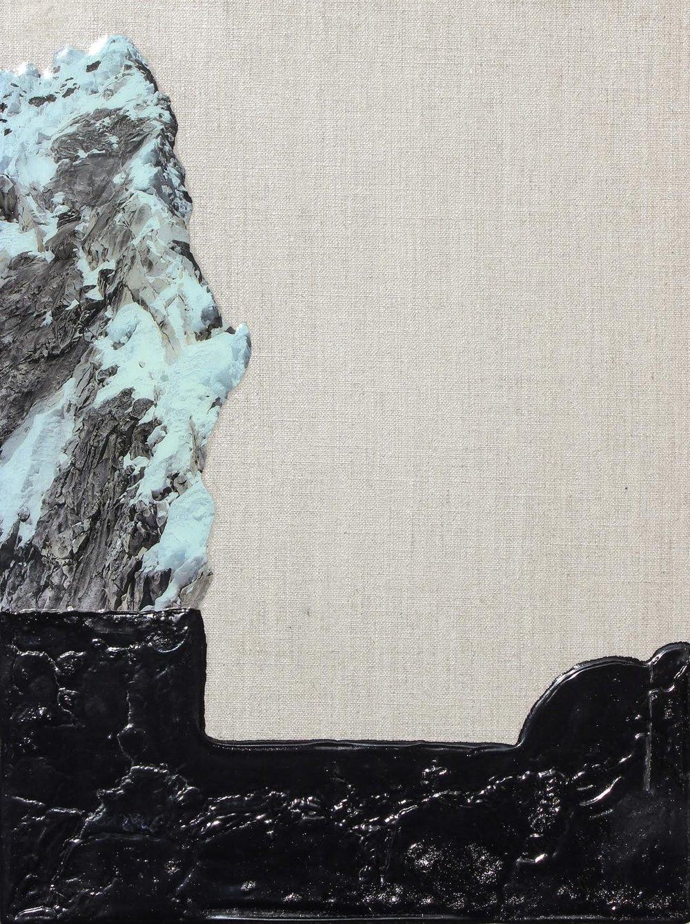 Cottonwood Canyon, 35x45cm, Collage, Resin, Acrylic, 2017, $980.jpeg