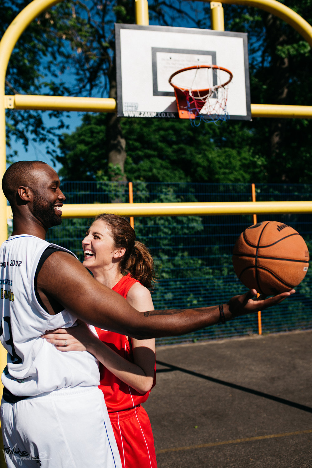 Basketball Engagement Photoshoot, Basketball Engagement Photos, Basketball Engagement, Basketball Couple, Sports Engagement, International Couple, Sporty Couple, Newcastle Upon Tyne Photographer, Newcastle Photographer, Northumberland Photographer, Margarita G Photography