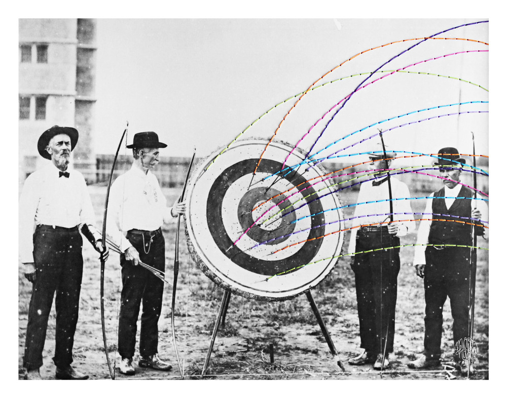 Bridges: National Archery Contest Team competition at the 1904 Olympics.