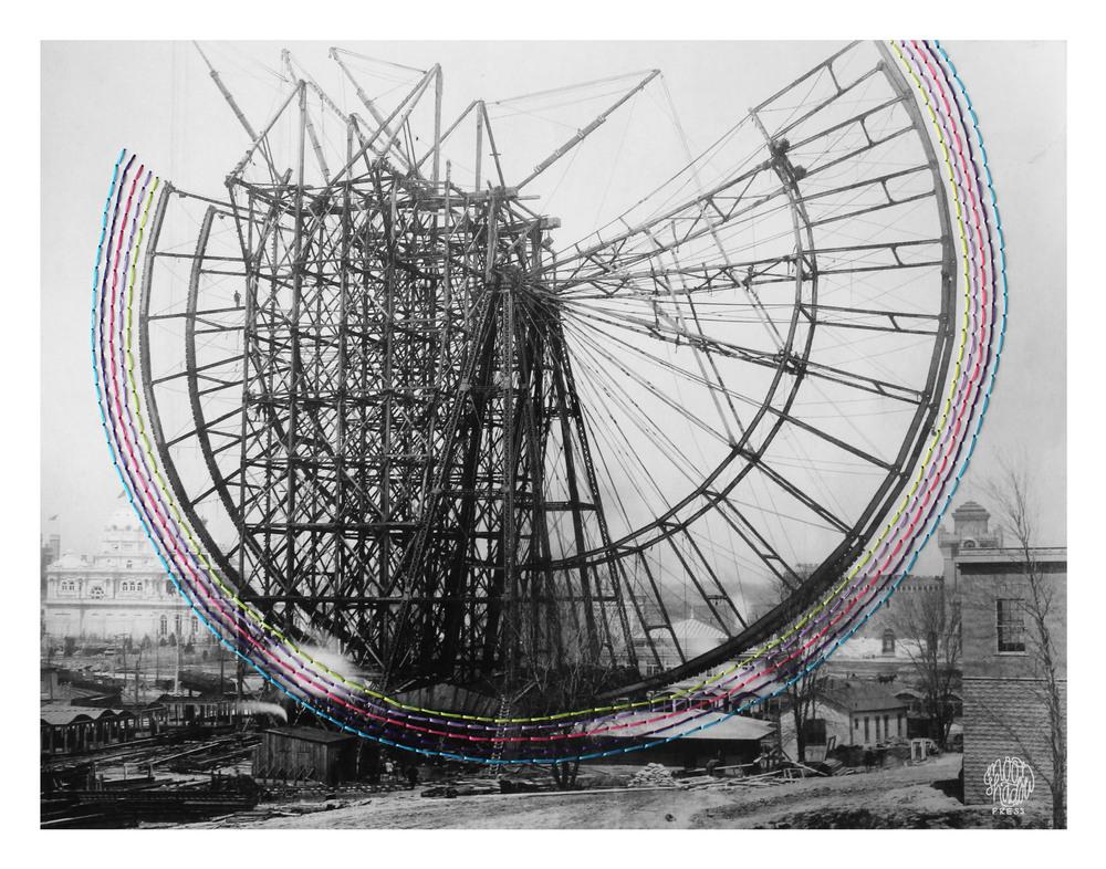 Bridges: Construction of the Ferris Wheel at the 1904 World's Fair, 19 April 1904.
