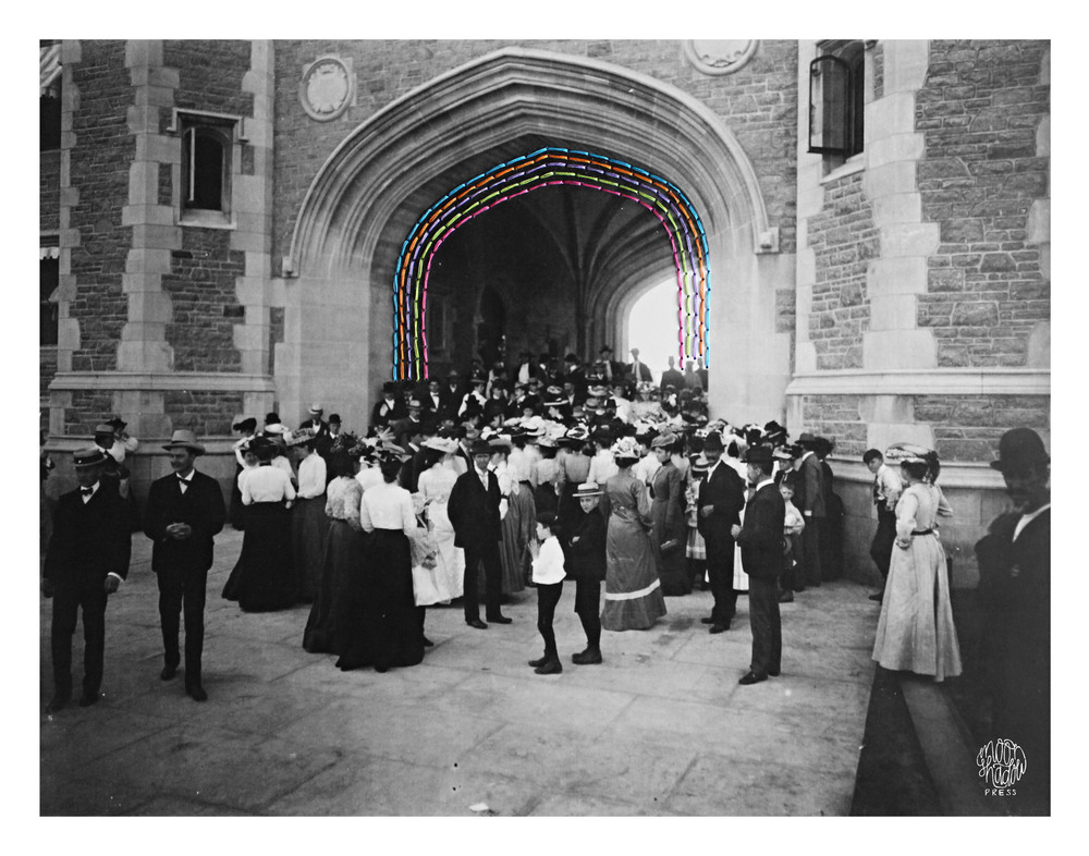 Bridges: Brookings Hall, Washington University on Dedication Day for the 1904 World's Fair, 30 April 1903