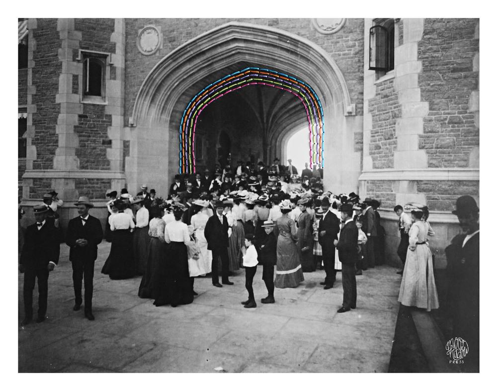 Bridges: Brookings Hall, Washington University on Dedication Day for the 1904 World's Fair, 30 April 1903