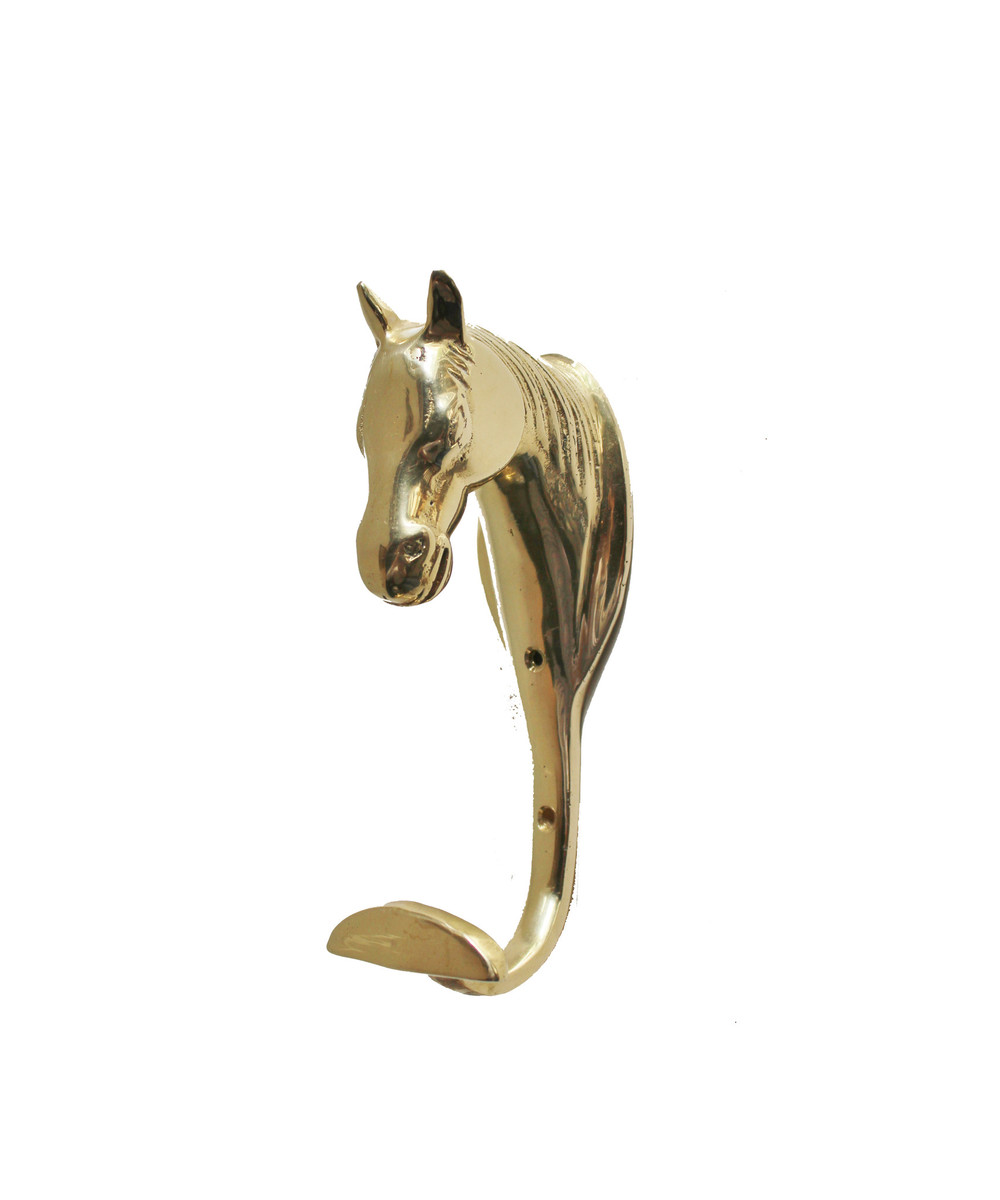 The horse is such a strong and beautiful animal. I think a couple of these horse hooks would add an element of nobility to any room.