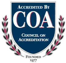 Council on Accreditation button