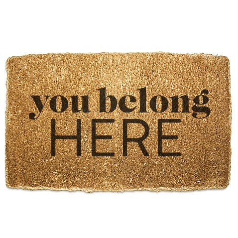 you belong here doormat - advertising and sponsorships - belong magazine
