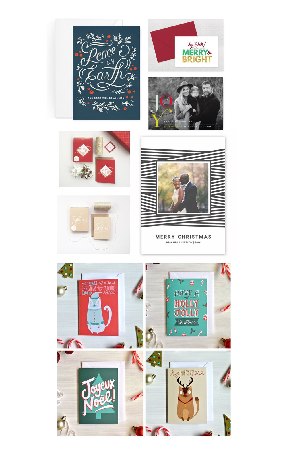 hoilday card round-up / christmas, new years, and beyond / Belong Magazine blog