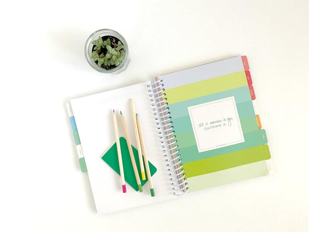 cultivate what matters 2017 powersheets book - goals, plans, cultivate - belong magazine blog