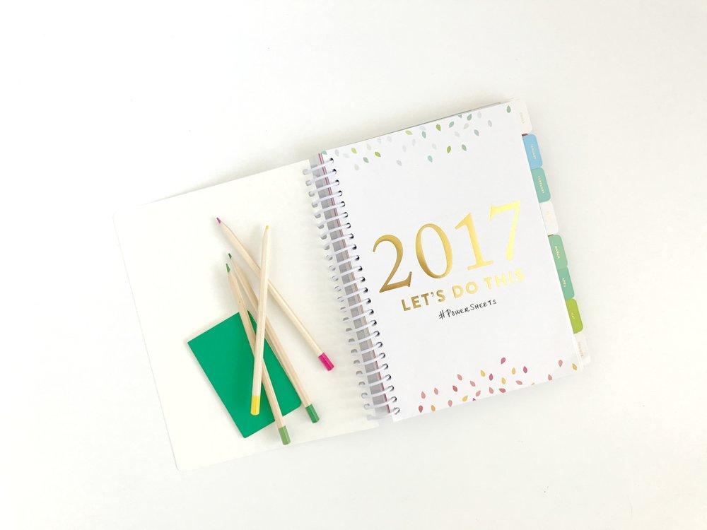 cultivate what matters powersheets 2017 - plan, grow, cultivate goals - belong magazine blog