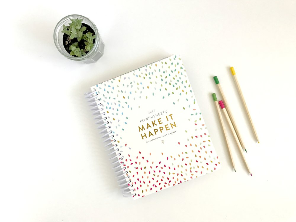Cultivate what Matters Powersheets Book 2017 - plan, prepare, cultivate goals - belong magazine blog