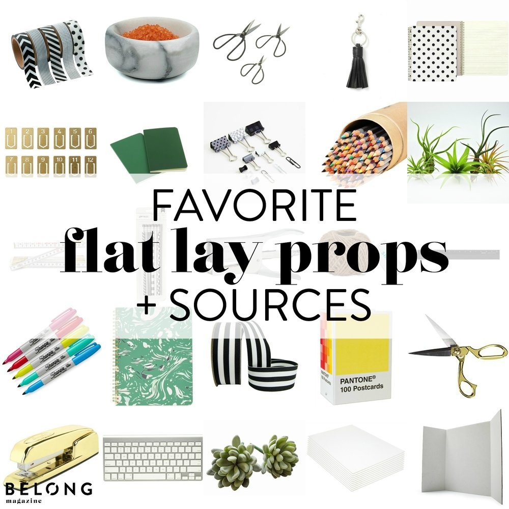 flat lay props for female creatives and entrepreneurs perfect for blog posts, instagram posts, pinterest pins, and more.