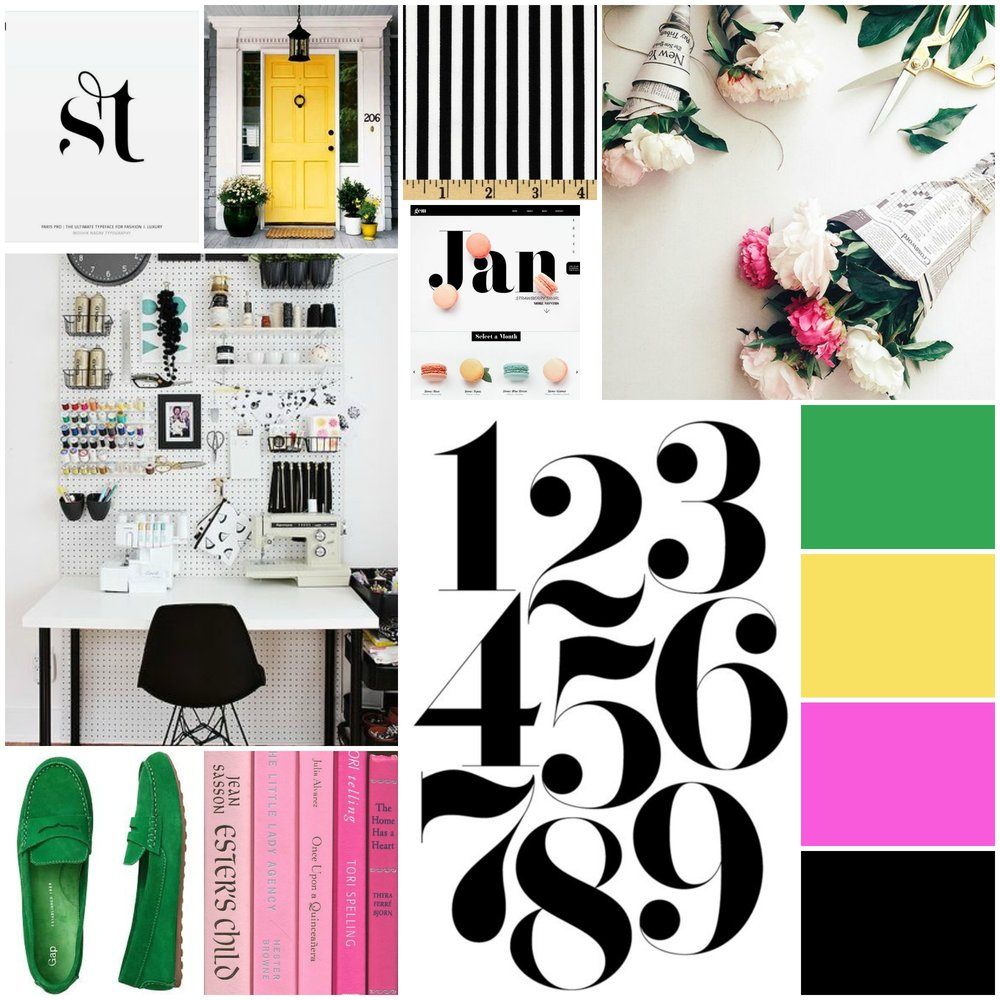 Belong Magazine Brand Inspiration Board - fonts, colors, graphics, design, logo