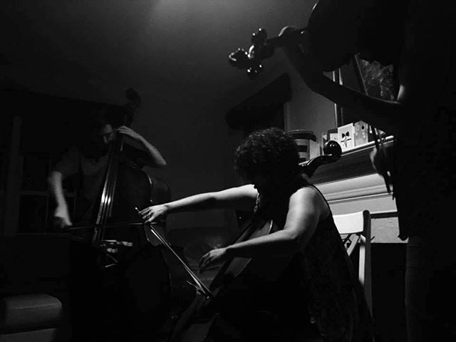Sick photo @alexsalser took at our house party/concert #newmusic #improvisedmusic