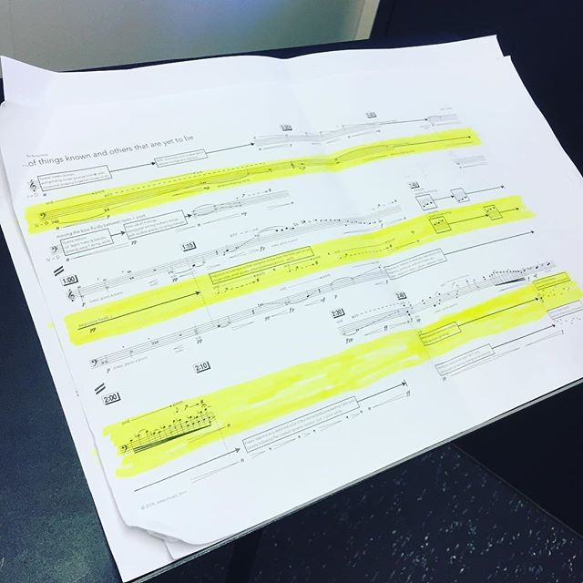 Marking up one of the more aesthetically pleasing scores is tough but this music ain't gonna learn itself! #humansofnewmusic
