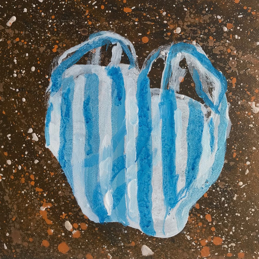 "Polythene Bag Rubbish  10""x10"" 2017"