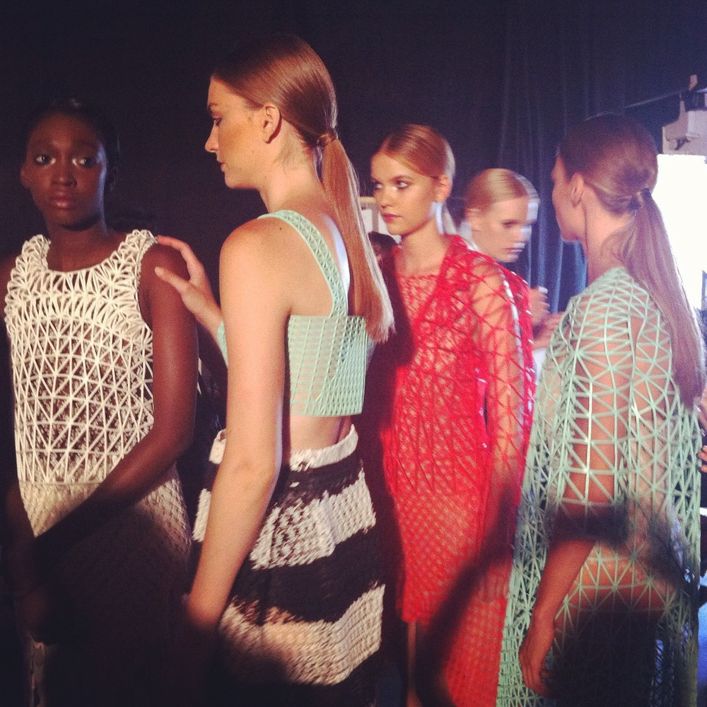 Behind the scenes - just before the runway show