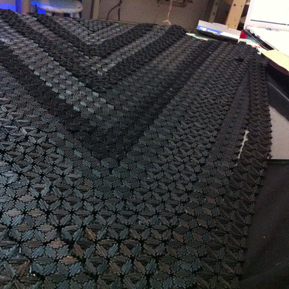 "Black dress ""topographic"" textile"