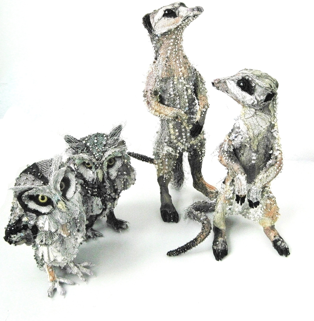 Beaded Meerkats & Owls  | Photography by Susan Horth