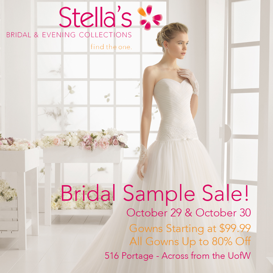 Sales & Events — Stella\'s Bridal & Evening Collections: Winnipeg ...