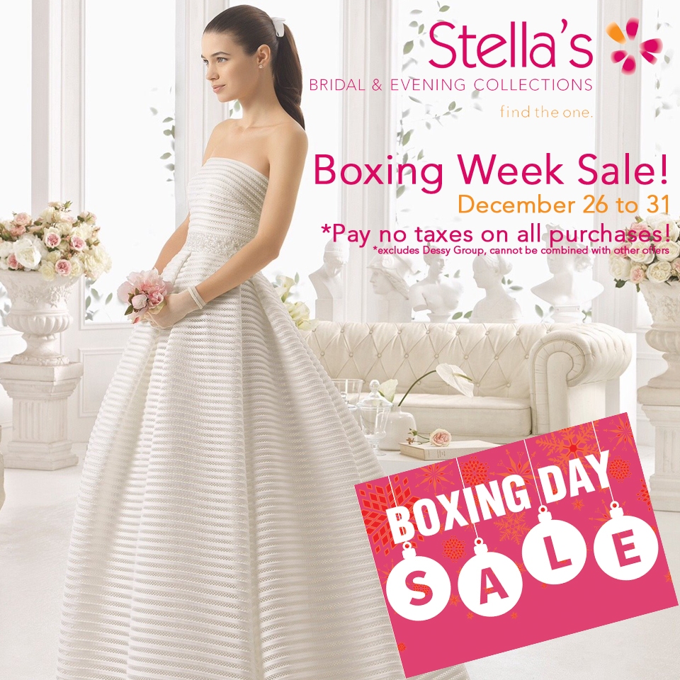 Stella's Annual Boxing Week Sale!