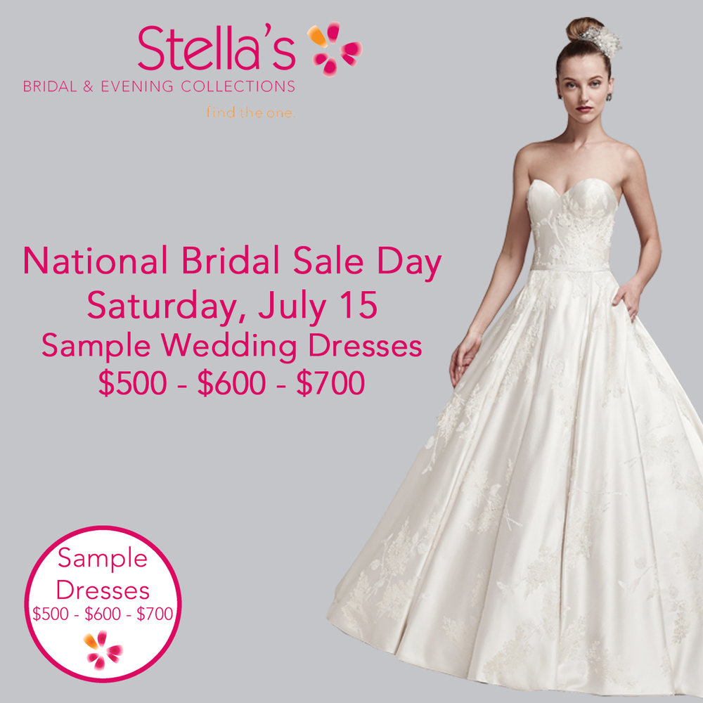 Sales events stellas bridal evening collections winnipeg national bridal sale day ombrellifo Gallery
