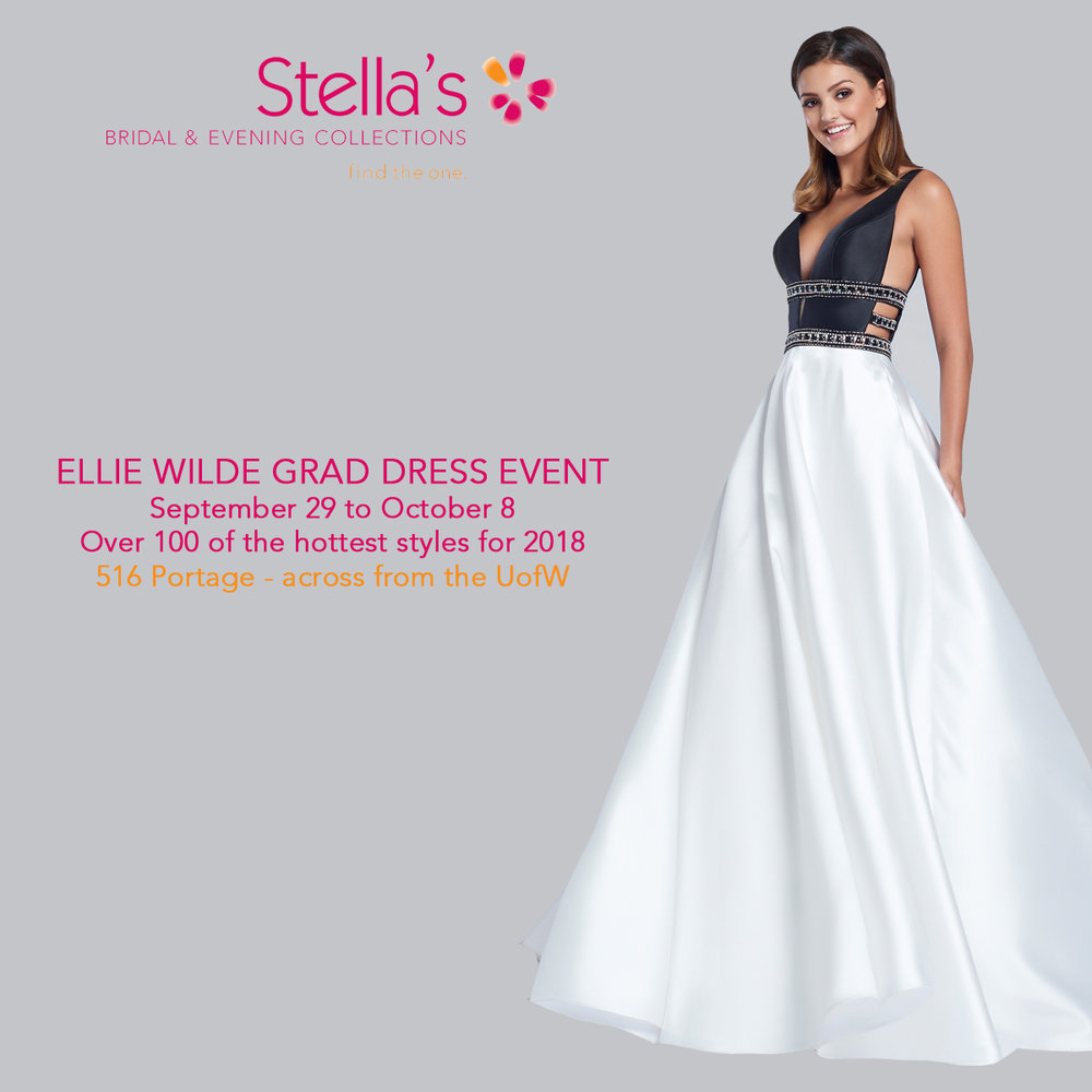 Sales events stellas bridal evening collections winnipeg ellie wilde grad dress event winnipeg grad dresses stellas bridal evening collections ombrellifo Choice Image