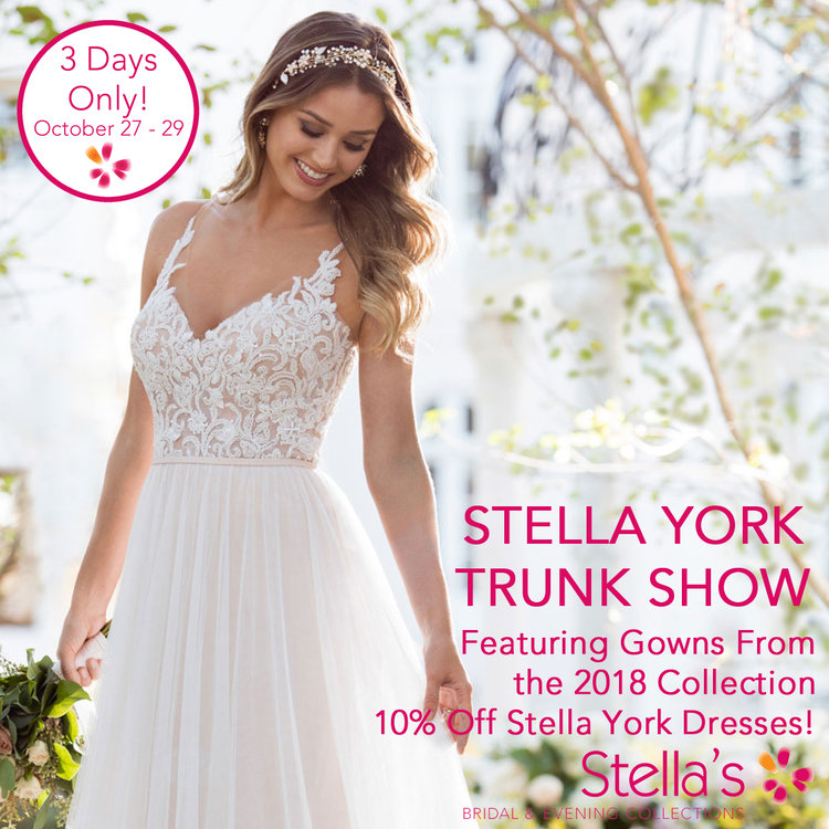 Stella York Trunk Show — Stella\'s Bridal & Evening Collections ...