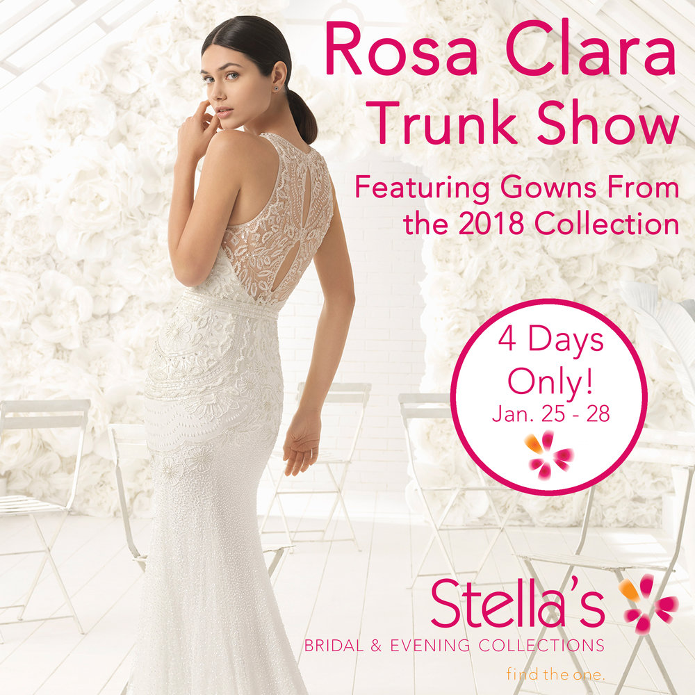 Sales events stellas bridal evening collections winnipeg rosa clara trunk show winnipeg wedding dresses ombrellifo Choice Image