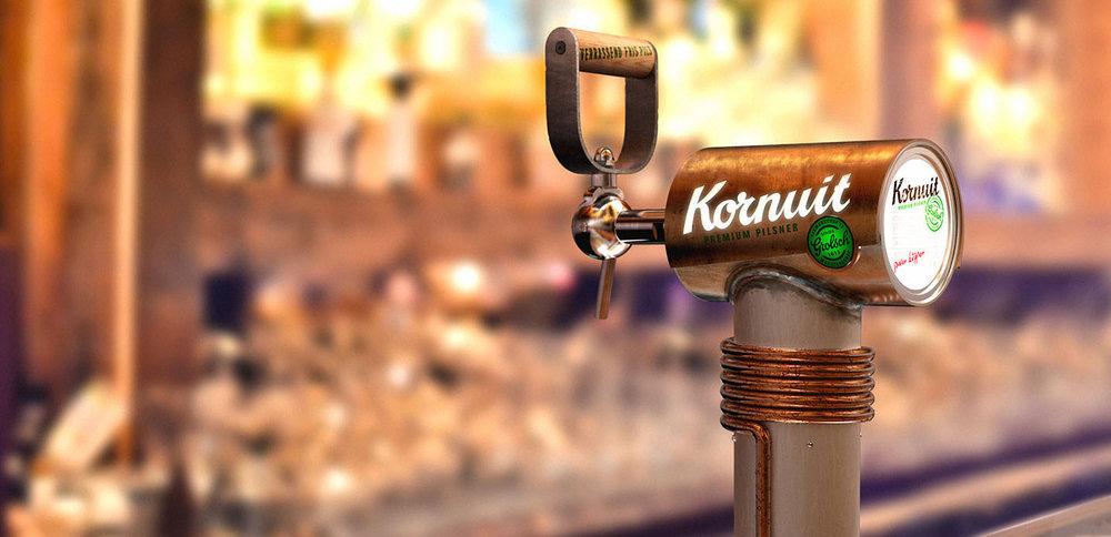 Kornuit || Beer Tap & Handle Design, Point of Sale