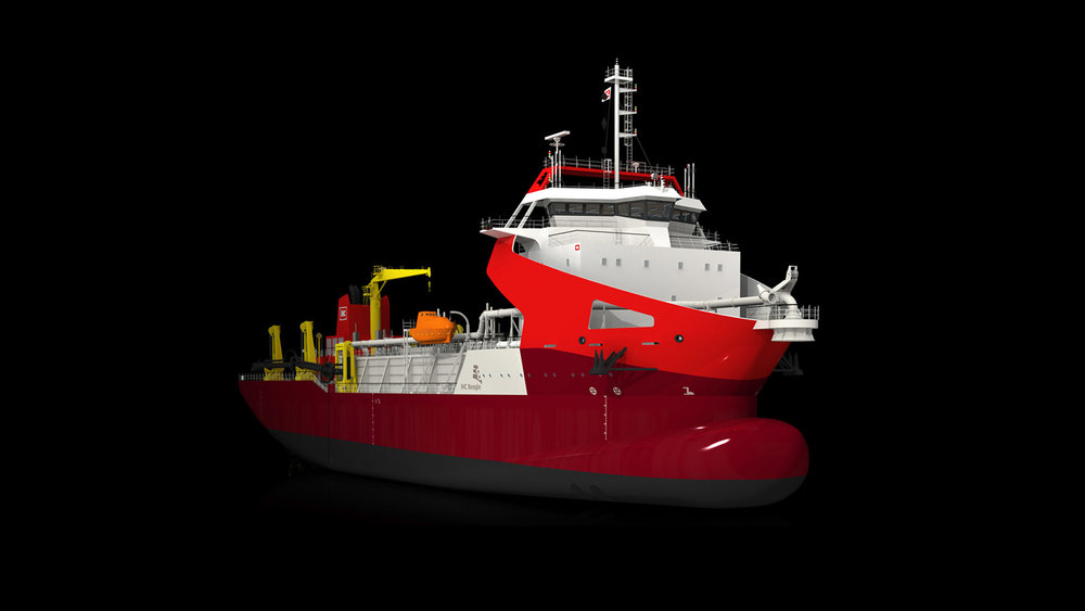 IHC Merwede  || Beagle Suction Hopper Dredger Vessel Exterior Design & Identity