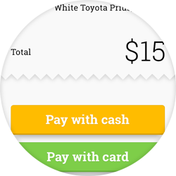 Pay with cash or card