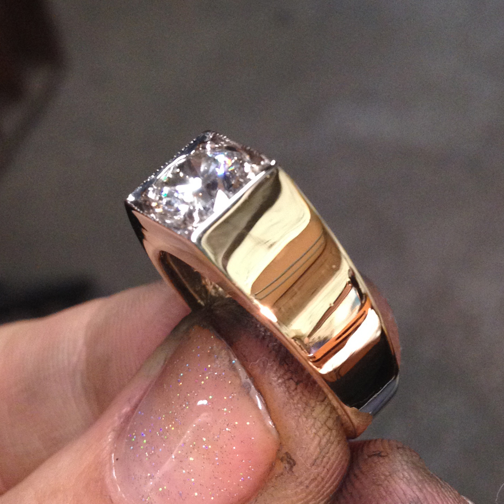 Refinishing - Gold Ring After