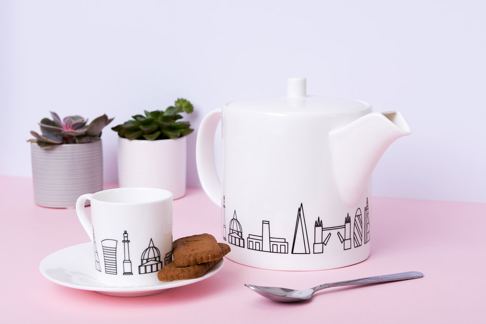 NEW BONE CHINA TEAPOT AND ESPRESSO CUP SET NOW AVAILABLE