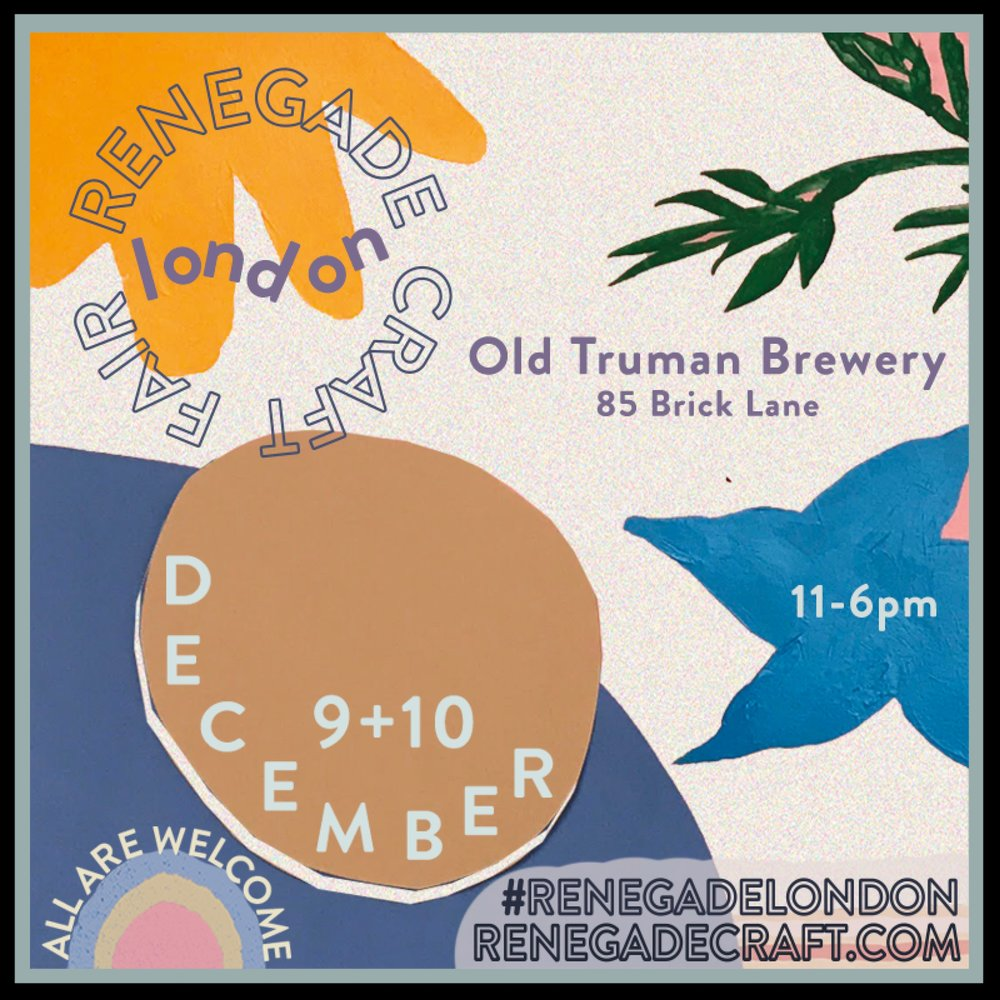 Ring in the festive season and get your holiday shopping done all in just one weekend. We have been selected as a 'SPECIAL FEATURE' at this year's Renegade Craft Fair London. Come along and take part in our personalised gift-making Christmas workshop with  My Icon Story . Great festive fun and guaranteed to be the best personalised gift you'll make and buy at the fair. See you there!