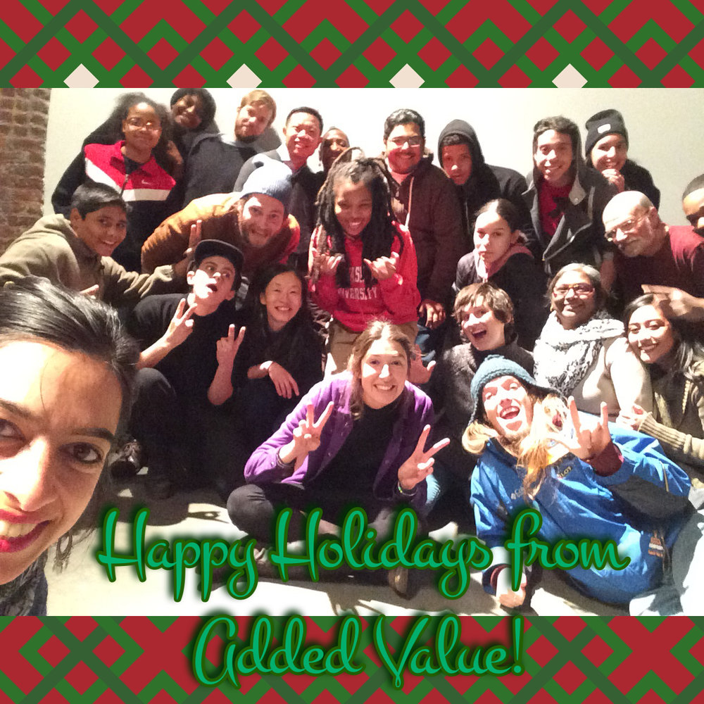 Happy holidays at our End of Season dinner!