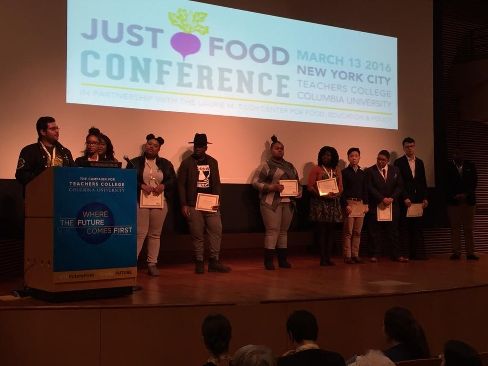 Otis receives the McKinley Hightower-Beyah award at the Just Food Conference in March!