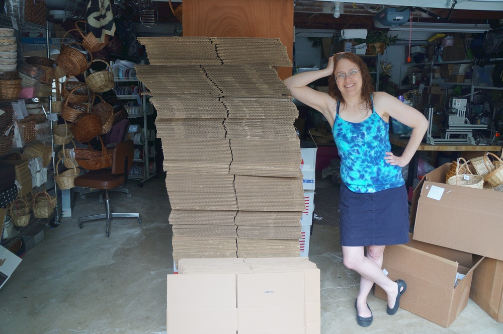 Thank you to Lise of BasketWork for donating more than 200 cardboard boxes!