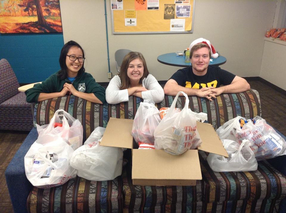 We bought hundreds of dollars worth of cereal, chips, apple sauce, muffins and water from   MU Campus Dining   with our extra swipes for our next Chicago distribution!   Mizzou   students, if you have extra swipes at the end of the year, consider heading to Emporium or Time Out to buy nonperishable foods to donate to the homeless!