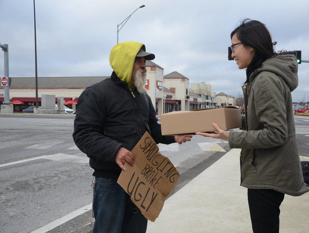 help the homeless    Give A Box    TAKE ACTION