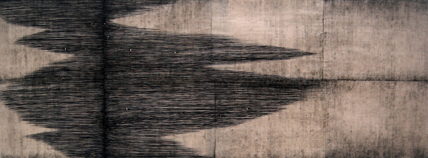 Culminate, 2010, ink on paper, 96x25in