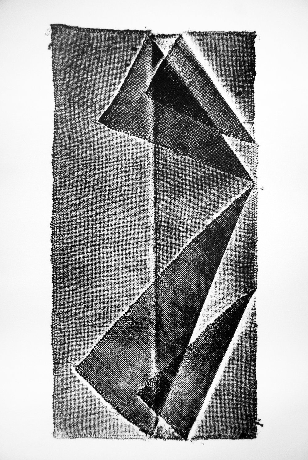 Document #1, 2015, collagraph, 24x15in