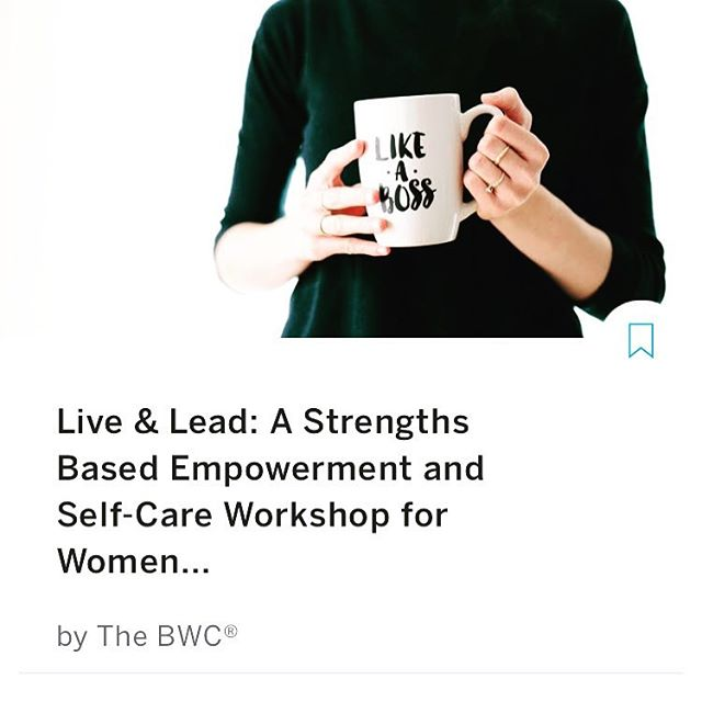 What are you doing Friday Sept 28th? If you're a ladyboss interested in harnessing your strengths and upping your self care game this @thebwcorg Fall workshop is for you! Registration deadline is THIS FRIDAY ps. Why this focus? When I contemplated what to offer a group of incredible, strong, smart and capable women; two areas immediately came to mind. First, self care. When we are pulled in a million directions the easiest and often first thing to go is the practices and boundaries that keep us healthy, vibrant and frankly sane. This elusive balance is what we all strive for and yet it's so difficult to pin down. For this reason we need repeated, frequent reminders and strategies to manifest a solid foundation of energy, clarity and calm. The second area is identifying and focusing on our strengths. High achieving women are expert at identifying areas for improvement, what isn't working and what can be done better in all areas of life. This perspective works best when it's ALSO paired with a recognition of our strengths and a honoring of what we already do well otherwise we end up feeling like we are always coming up short. This workshop is going to be a designated space to reflect on and re-connect to our inherent strengths and re-up our commitment to a solid foundation of self-care and support so you can show up as your best self in all areas of life. Event link in bio!
