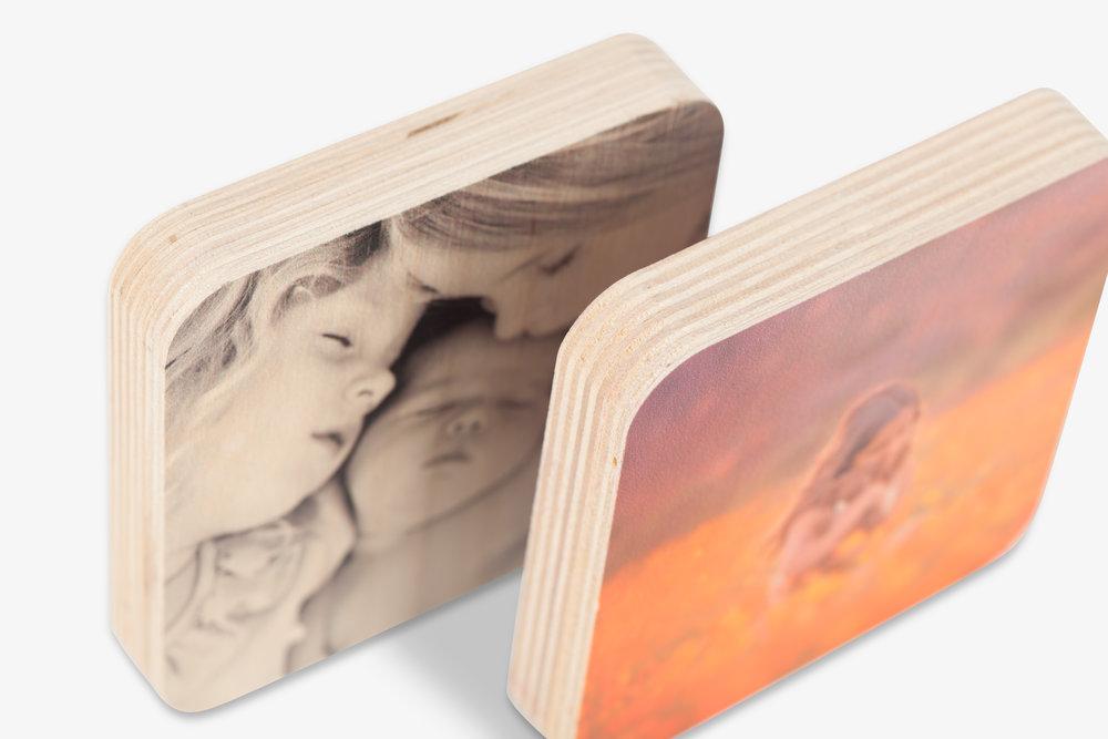 Wood Photo Squares -