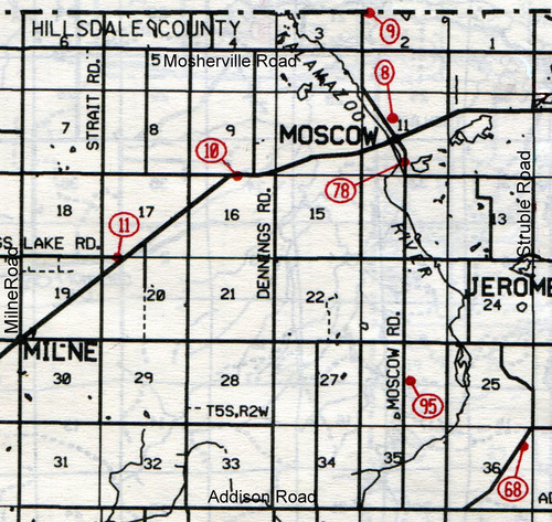 Moscow T-5-SR-2-W                                                            8… Moscow (North Moscow, New Moscow or Rice)    9… Skinner (Richards)--site    10… Blackmar (Pike)    11… Moscow Plains    68… Randolph    78… South Moscow (Old Moscow Township or Old Soldier)    95… Mennonite (Stolt)