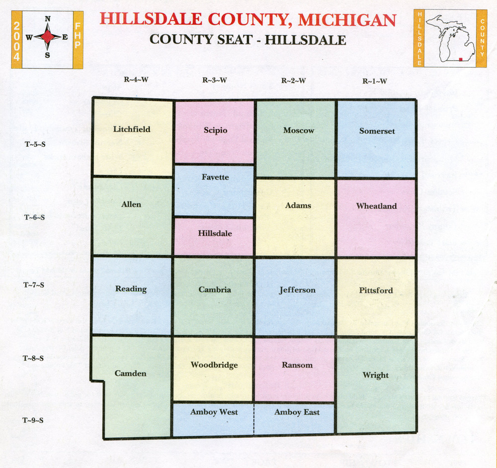 Taken from 2004-2006 Hillsdale County Land Atlas & Plat Book